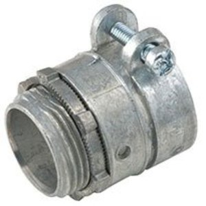 """Hubbell-Raco 2195RAC AC Cable Connector, 1-1/4"""", Squeeze Type, Non-Insulated, Zinc"""