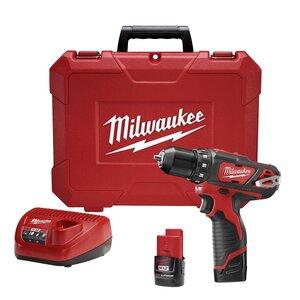 "Milwaukee 2407-22 M12™ 3/8"" Drill/Driver Kit"