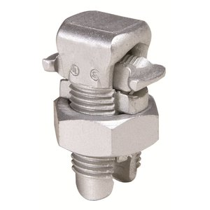 Burndy KSA2/0 Split Bolt, Aluminum, Run: 2 to 2/0 AWG, Tap: 8 to 2/0 AWG