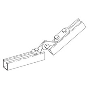 Eaton B-Line B335-2-1/2ZN THREE HOLE ADJUSTABLE HINGE, 9/16-IN. HOLE, ZINC PLATED