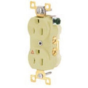 Hubbell-Wiring Kellems IG15I DUP RCPT, IG, 15A 125V,