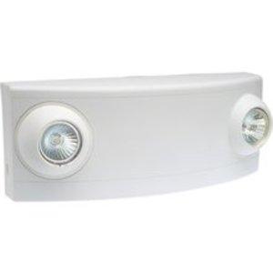 Hubbell-Dual-Lite LZ15-B Emergency Light, Twin Head, Halogen, 15W, 6V