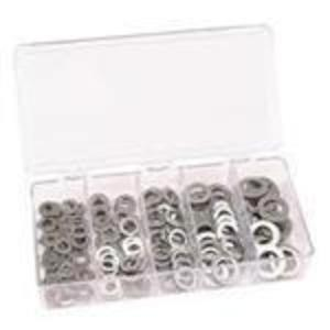 Dottie FW2 Assorted Flat Washer Kit, Zinc Plated