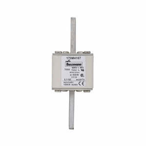 Eaton/Bussmann Series 170M4167 700A Square Body DIN 43-653 Fuse, Size 1, Visual for Micro, 690/700V