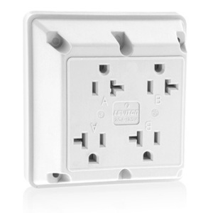 21254W WH REC 4IN1 2P/3W GROUND 20A125V