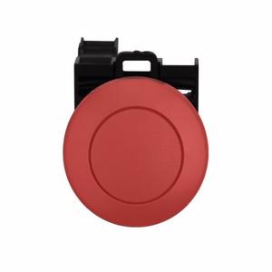 Eaton M22-DP-R-K12 Push Button, Momentary, Mushroom Red Head, 22.5mm, 1NO/2NC Contacts