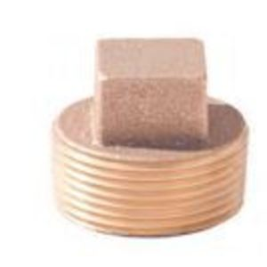 Merit Brass XNL117-08 1/2 BRS SQ HD PLUG-LF