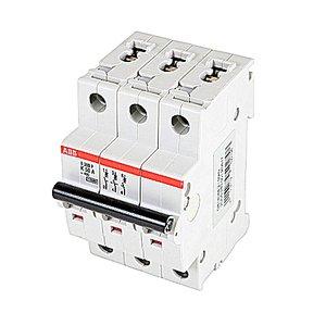 ABB S203P-K50 Breaker, Miniature, 3-Pole, 50 Amp