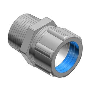 "Thomas & Betts 2942 Cord Connector, Liquidtight, Straight, 1"", Steel"