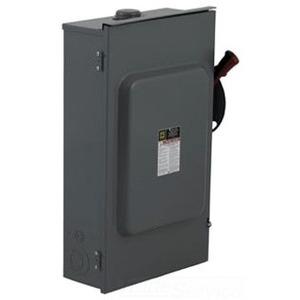 Square D H364RBVW Disconnect Switch, Fusible, NEMA 3R, 200A, 3P, 600VAC, Neutral