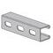 Power-Utility Products AS-132-OS-10-EG Channel, Oval Slots, Steel, Electro-Galvanized, 1-5/8