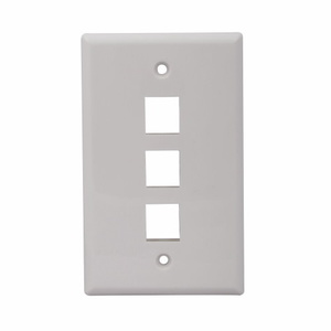 Future Smart ESWR310W  10 PACK OF BLANK 3 PORT WALL OUTLETS (WHITE)