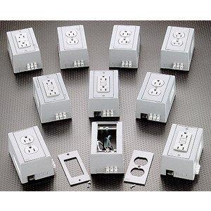 Hubbell-Wiring Kellems DRUBGFI15CB5 DIN-R UTL BOX,15A 125V,DUP,GFCI,W/CB,GY