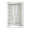 Satco 60-532 Bulkhead Light, 1-Light, Caged, White Finish, Glass Lens