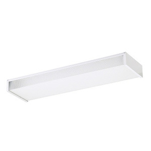 Sea Gull 59136LE-15 Fluorescent Wrap Fixture, 2', 2-Lamp, T8, 17W, 120V