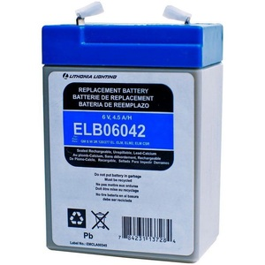 Lithonia Lighting ELB06042 Replacement Battery For Emergency Lighting Unit