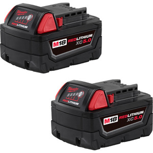 Milwaukee 48-11-1852 M18™ Redlithium XC5.0 Extended Cap Battery (2PK)