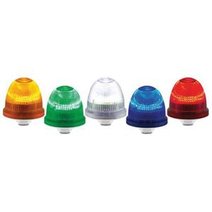 Federal Signal LP22LED-090-240R Low Profile LED Beacon, Streamline Series, 240V AC, NEMA 4X, Red