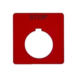 9001KN102RP 30MM LEGEND PLATE - STOP