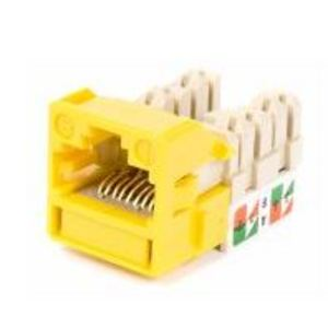Commscope CC0020842/1 Snap In Connector, Uniprise, UNJ600, Cat 6, U/UTP, Outlet, Yellow