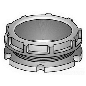 "OZ Gedney BBL-50 Conduit Bushing With Locknut, Insulating, Size: 1/2"""