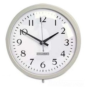 "Edwards 1887A Analog Wall Clock, 12"" Face, Gray *** Discontinued ***"