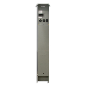 Midwest U075CP6010 Pedestal, Power Outlet, 100A, 1P, 120/240VAC, 1PH, Un-Metered