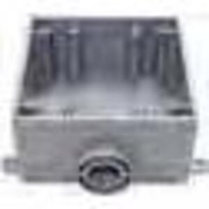 "Bizline 2FSE050 FS Box, Weatherproof, Dead-End, 2-Gang, With Lugs, 1/2"", Non-Metallic"