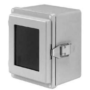 "nVent Hoffman A1066JFGQRPWR Junction Box, NEMA 4X, Hinged Cover, 10"" x 6"" x 6"", Gray, Fiberglass"