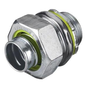 """Hubbell-Wiring Kellems H125 Liquidtight Connector, Straight, Size: 1-1/4"""", Material: Steel"""