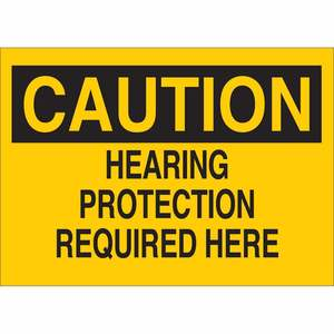 25469 EAR PROTECTION SIGN