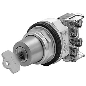 Allen-Bradley 800T-H31A Selector Switch, 2-Position, Keyed, 30mm, Key Removal from Left