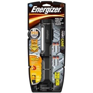 Energizer HCAL41E Hard Case Work Flashlight, (4) AA Batteries, Black