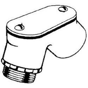 "Hubbell-Raco 2662 EMT Pulling Elbow, 1/2"", Type: 90°, Handy Ell, Zinc Die Cast"