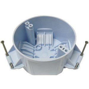 "Cantex EZ20CN 4"" Round Ceiling/Fixture Box, Depth: 2-3/8"", Nail-On, Non-Metallic"