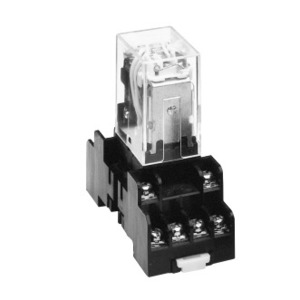 ABB CR420MPLG44J Relay, Ice Cube, 4PDT, 5A, 120VAC Coil, 14 Blade, Plug-In