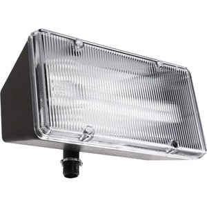 RAB PLF13 Flood Light, Compact Fluorescent, 1-Light, 13W, Bronze