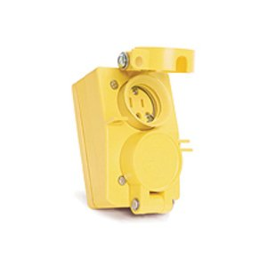 Woodhead 60W47DPLX Watertite Receptacle with Duplex Flip Coverplate, 15A, 125V