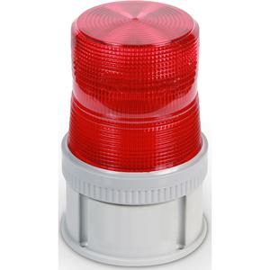 Edwards 105HISTR-N5 Beacon, Type: LED Strobe, 120VAC, 0.1A, NEMA 4X, Red, Non-Metallic