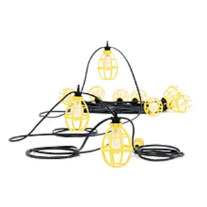 Woodhead 202SRL String Light, 100', 150W, 120V, Yellow
