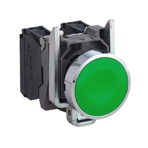 Square D XB4BA35 22MM PB, GREEN, WITH