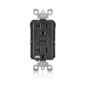 Leviton GFWR2-E 20 Amp, 125 Volt Weather-Resistant GFCI, Black