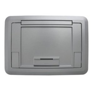 Wiremold EFB45CTCAL Surface Style Cover with Floor Insert, Aluminum