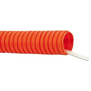 "Carlon A6D2S1JNNB5000 Corrugated HDPE Innerduct with Tape, 1-1/4"", Orange, 5000' Reel"