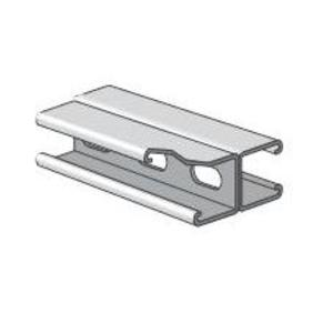 "Power-Strut PS200EH-2T3-10PG Channel - Back To Back, Steel, Holes, Pre-Galvanized, 1-5/8"" x 3-1/4"" x 10'"