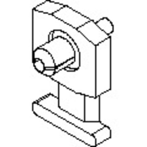 Panduit KIMS-H366-M2 Cable Tie Mount, Low Profile, Push Rivet, Nylon, Red