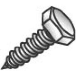 Cully 57464 3/8 X 4 HEX HEAD LAGS ZP