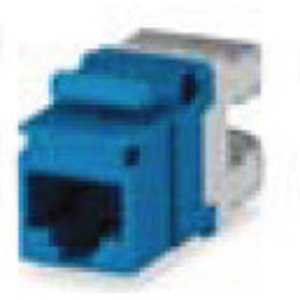 Bizline C6JBLU Snap In Connector, Keystone, Cat 6, T568A/B, Gigamedia, Blue