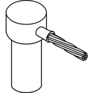 """nVent Erico GR1182Q Cable to Ground Rod, One Shot, Rod Diameter: 3/4"""", 4/0 AWG"""