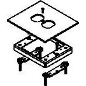 Wiremold 433DR Flush Carpet Kit-single Duplex